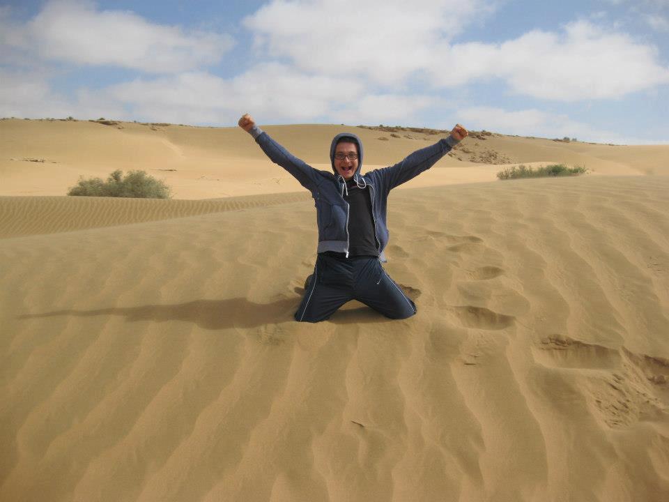 Timotei Rad în deşertul Sahara.