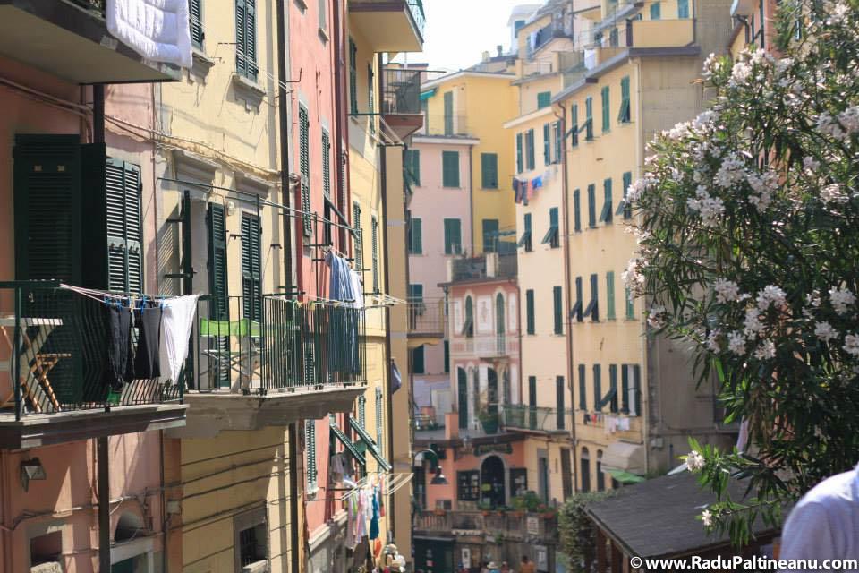 Strada principală din Riomaggiore.
