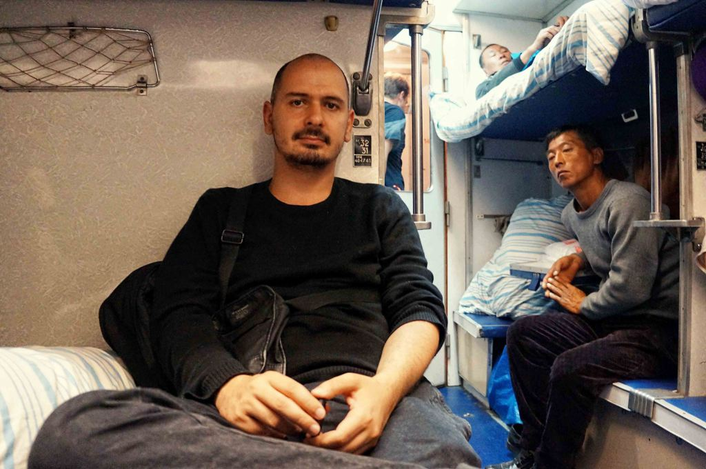 Ştefan. într-un tren din Rusia, la clasa a III-a